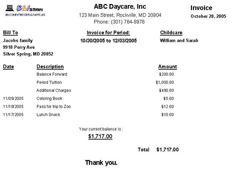 ChildCare Sage Review Management SoftwareProfessional Child Home - Online child care invoice