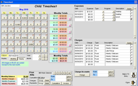 ... Child Home Care and Daycare ChildCare Sage Software Screenshots